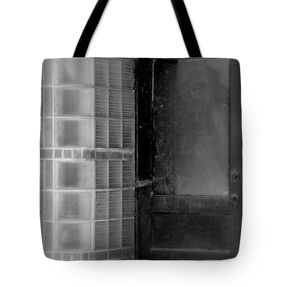 The Old Side Door Tote Bag featuring the photograph The Old Side Door by Ed Smith