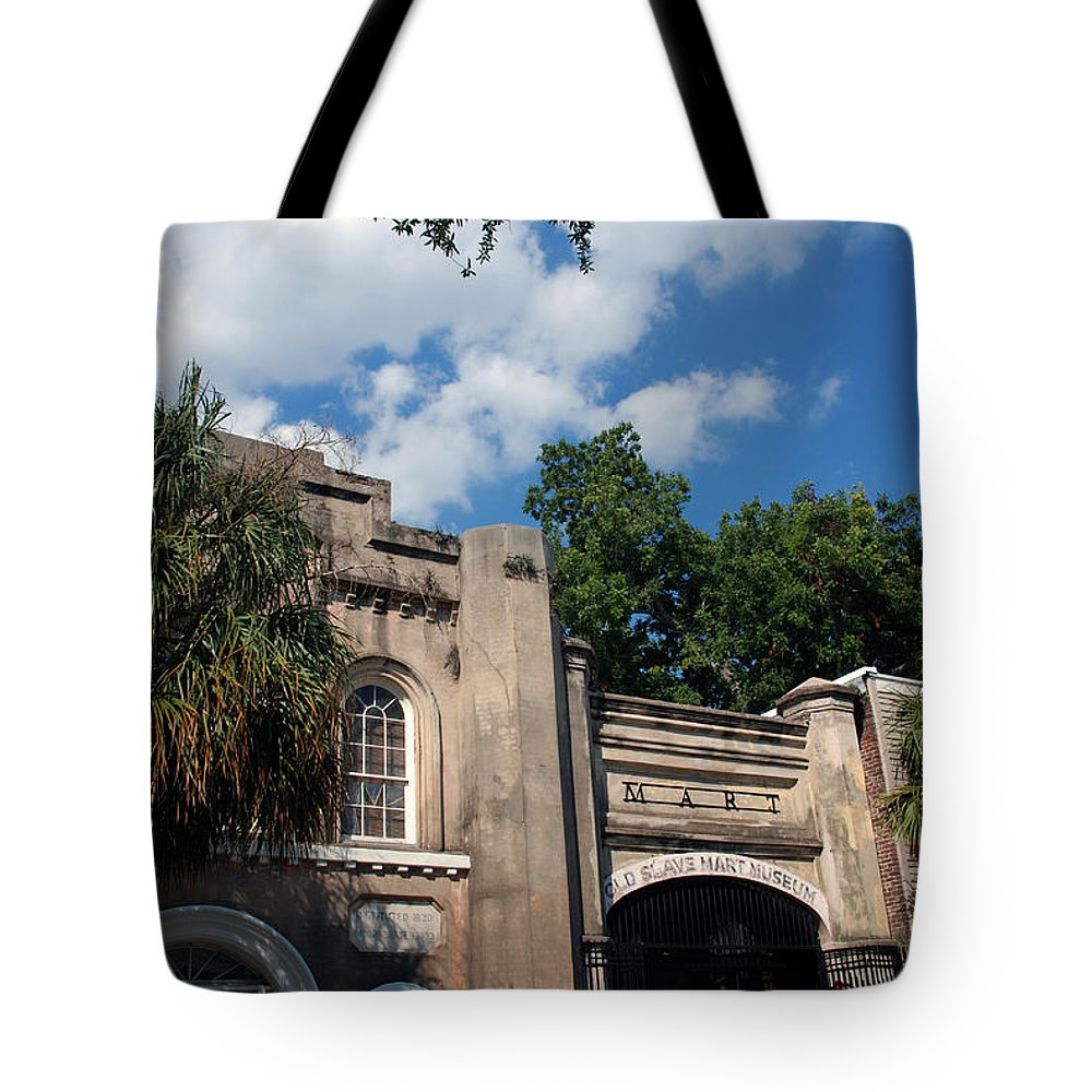 Photography Tote Bag featuring the photograph The Old Slave Market Museum In Charleston by Susanne Van Hulst