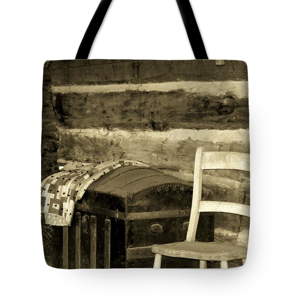 Trunk Tote Bag featuring the photograph The Old Trunk by Betty Northcutt