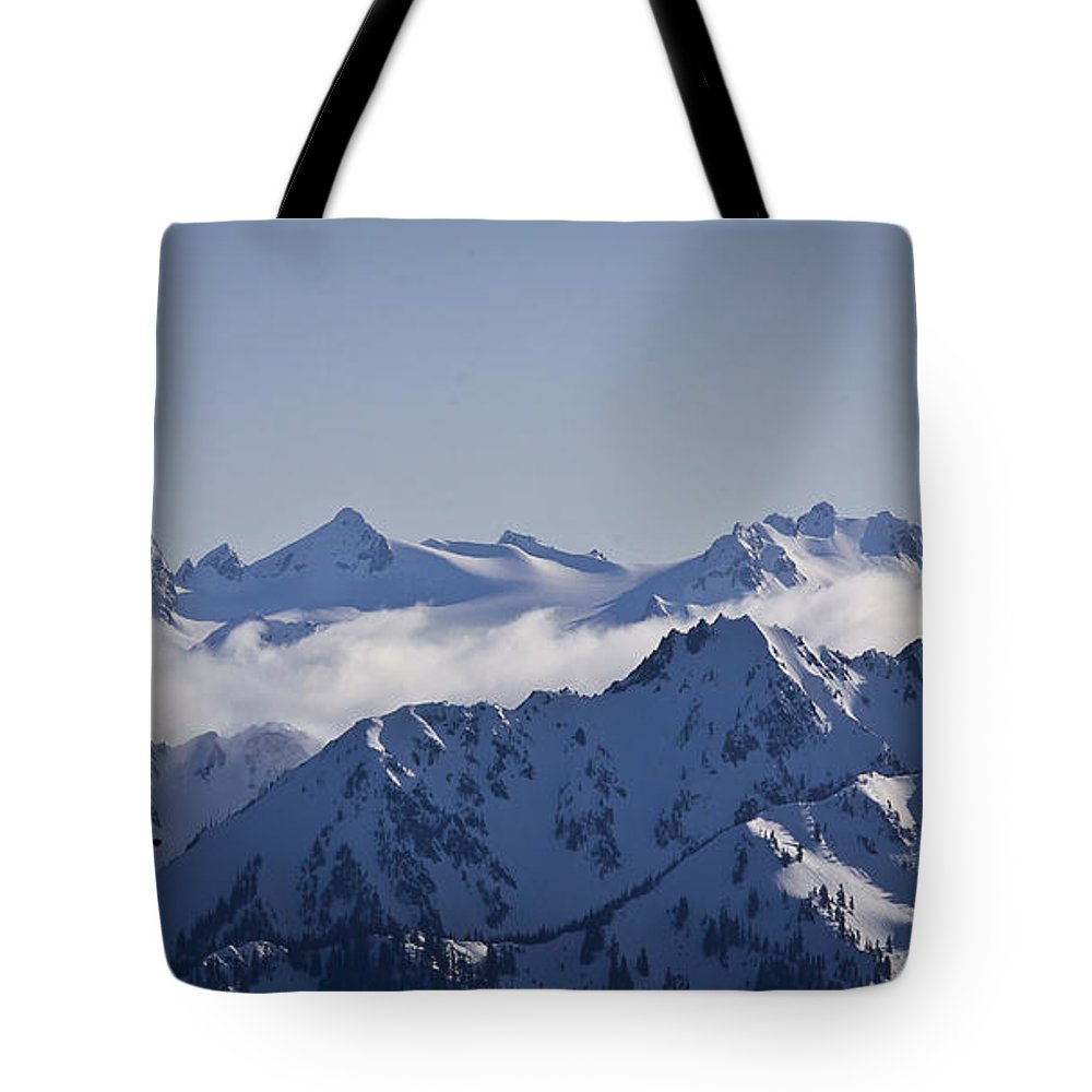 Mt Olympus Tote Bag featuring the photograph The Olympics by Albert Seger