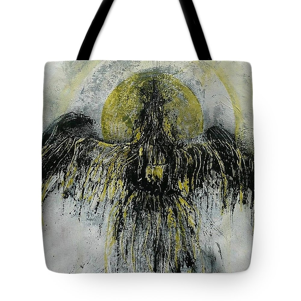 Abstract Tote Bag featuring the painting The Omen by 'REA' Gallery