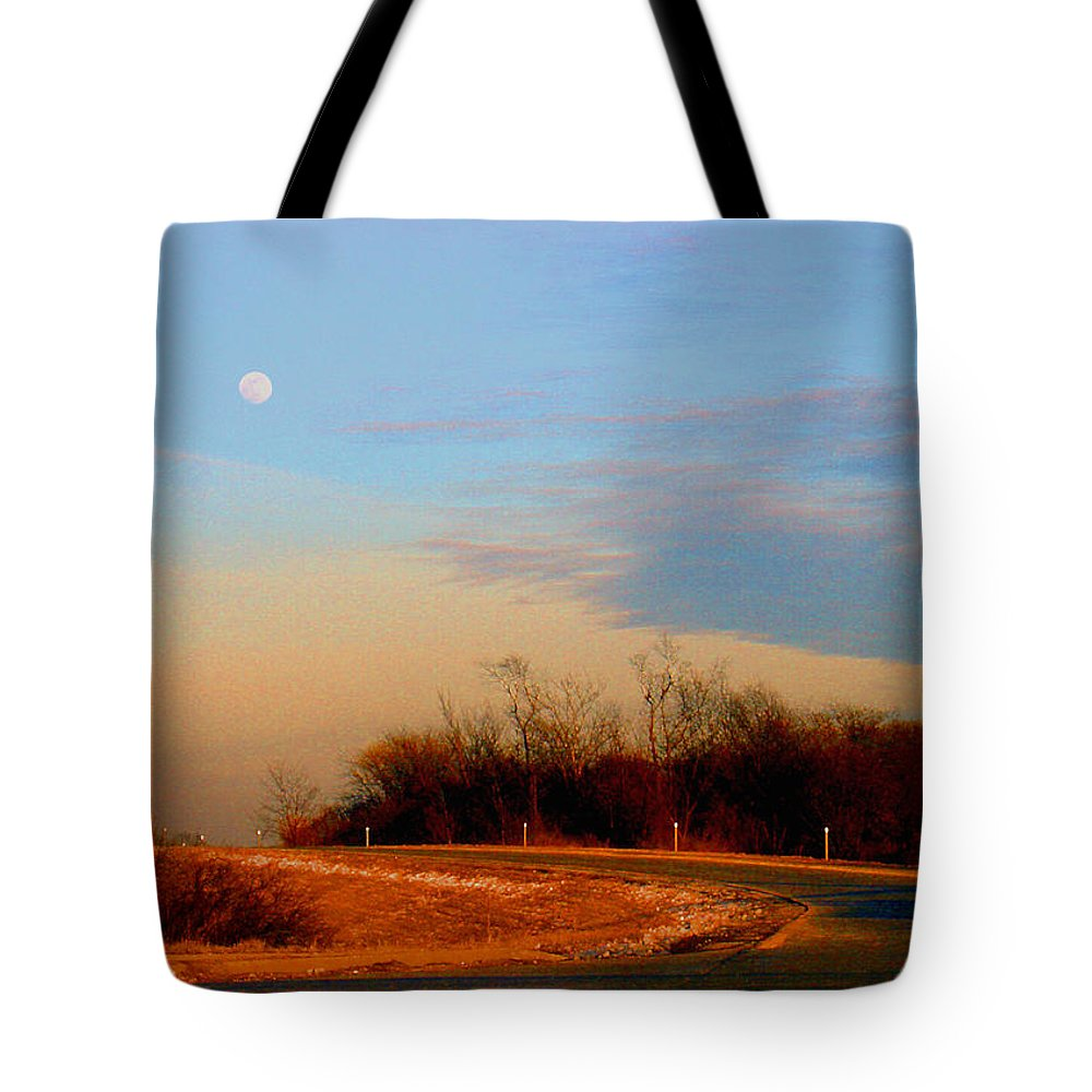 Landscape Tote Bag featuring the photograph The On Ramp by Steve Karol