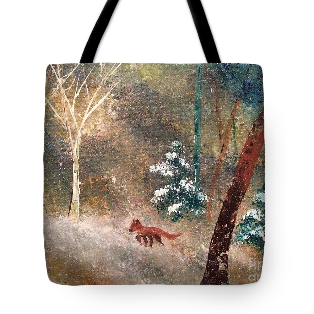 Snow Tote Bag featuring the painting The Onion Snow by Denise Tomasura
