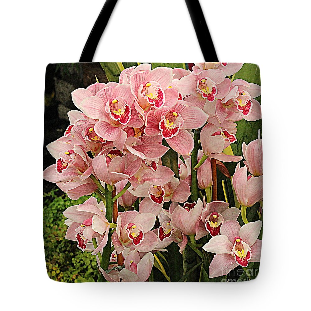 Orchid Tote Bag featuring the photograph The Orchid Garden by Dora Sofia Caputo Photographic Design and Fine Art