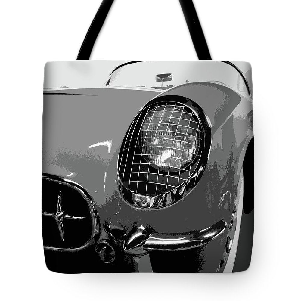Automobile Tote Bag featuring the photograph The Original Vette by Dick Goodman