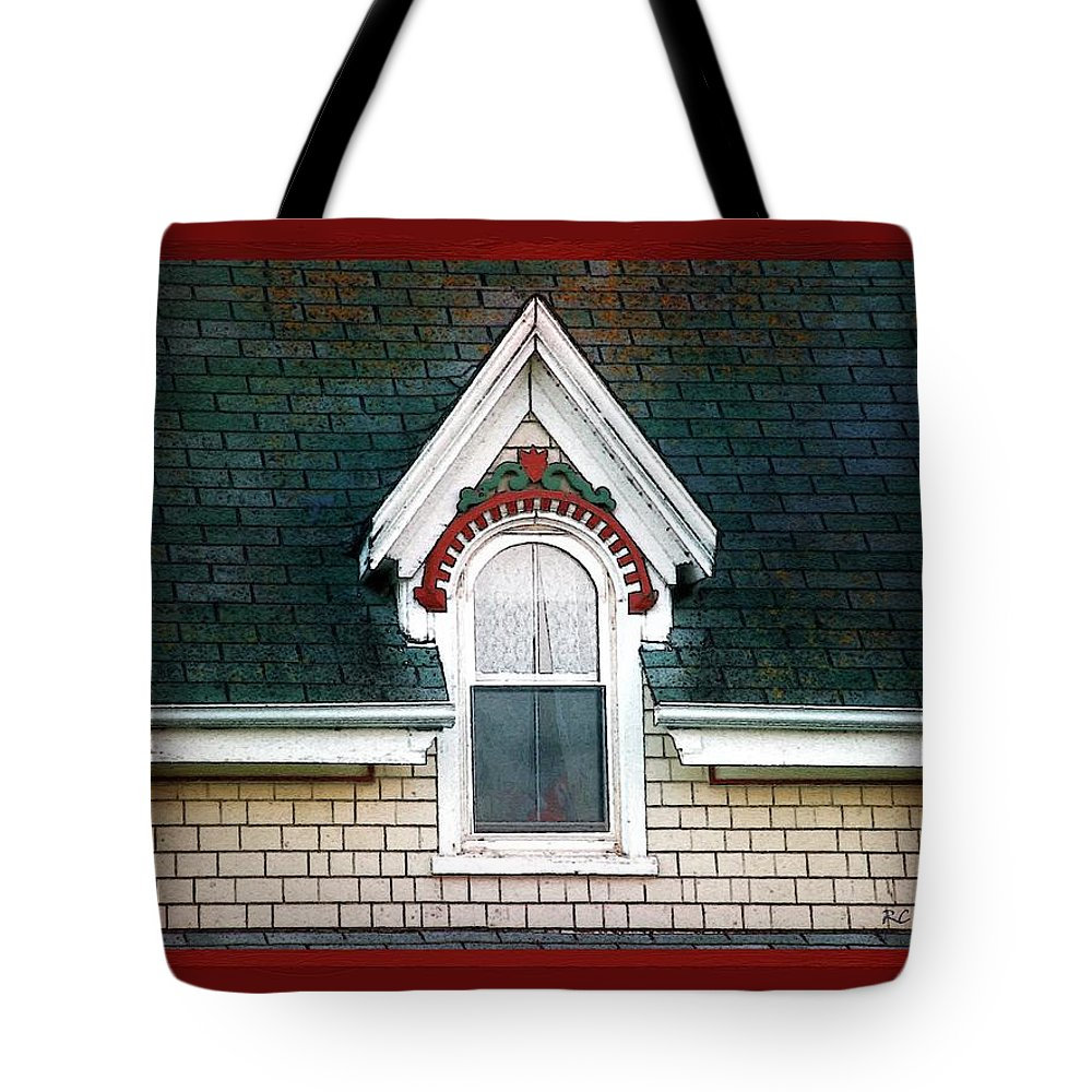 Canada Tote Bag featuring the painting The Ornamented Gable by RC DeWinter