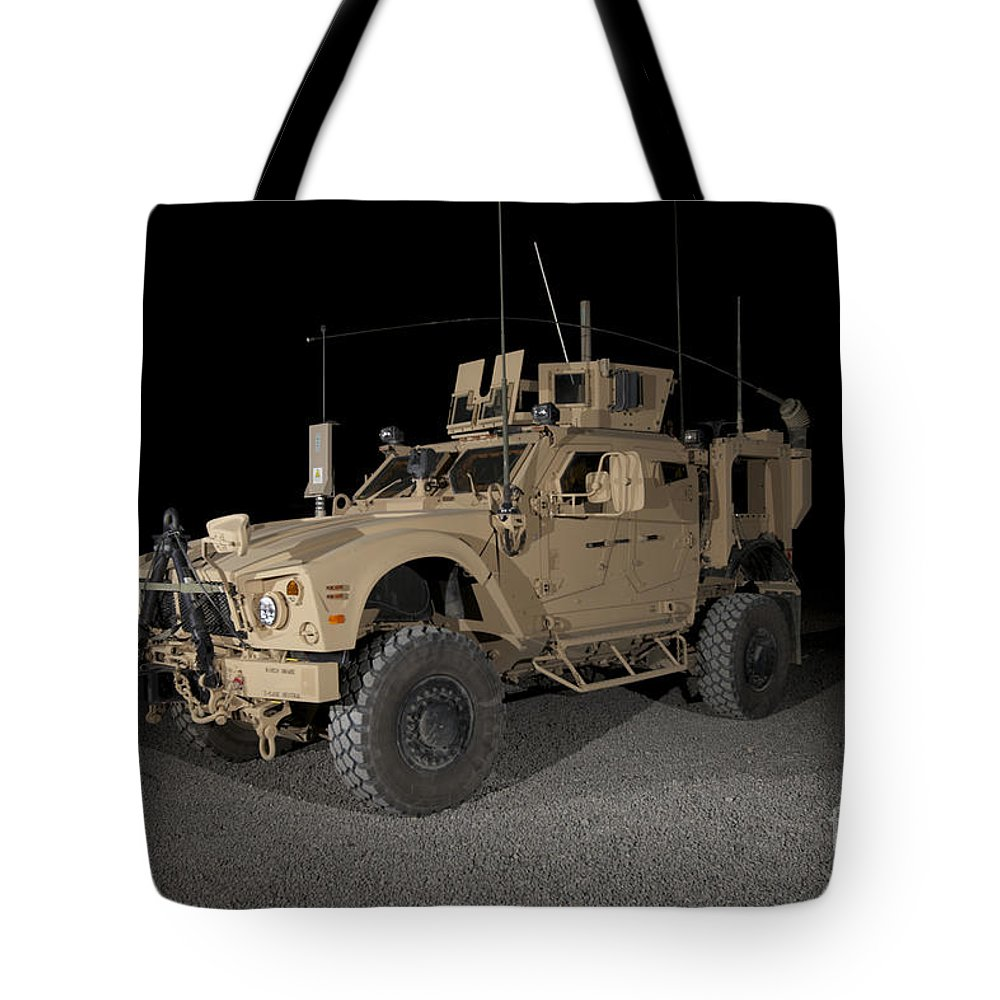 Armor Tote Bag featuring the photograph The Oshkosh M-atv by Terry Moore