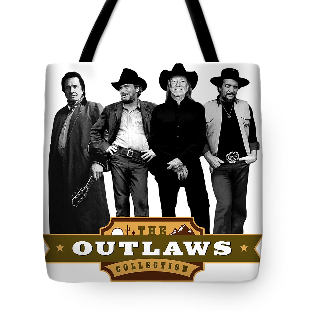 The Outlaws Collection Tote Bag featuring the digital art The Outlaws Collection by David Richardson