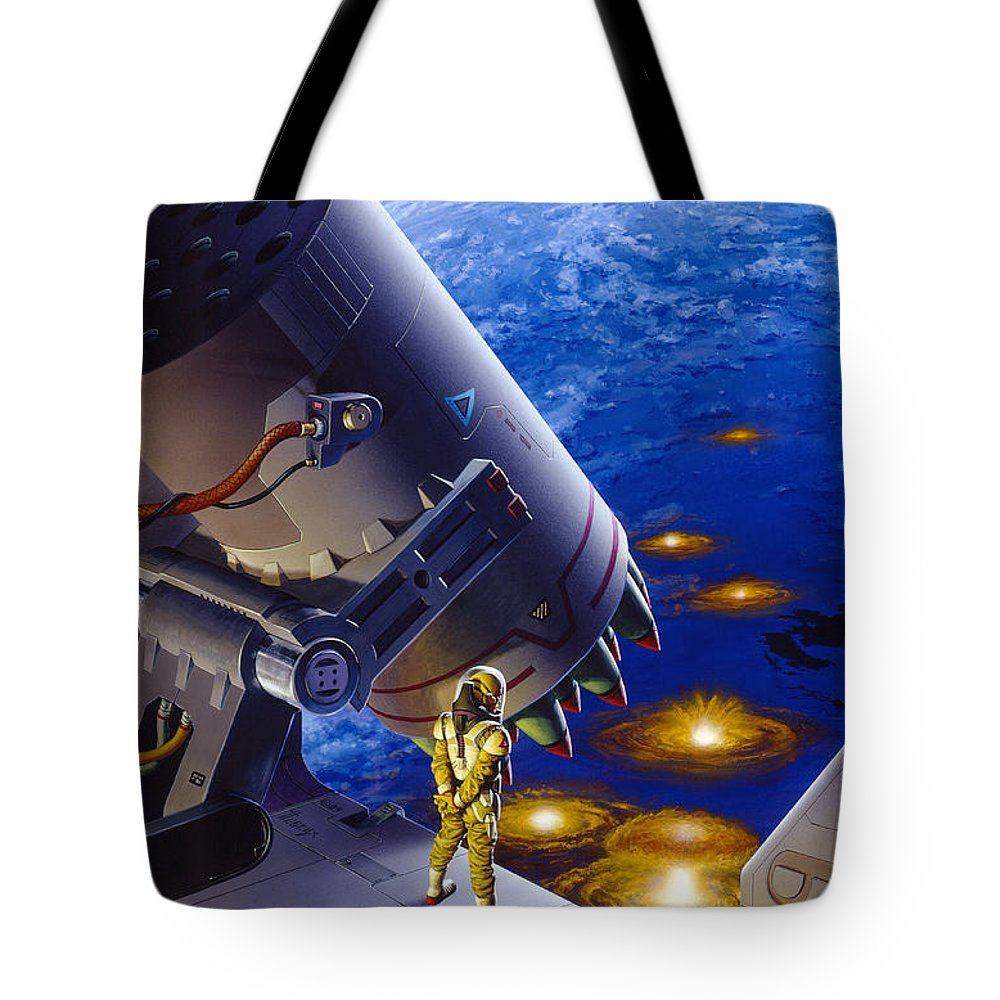Space Tote Bag featuring the painting The Pacifist by Richard Hescox