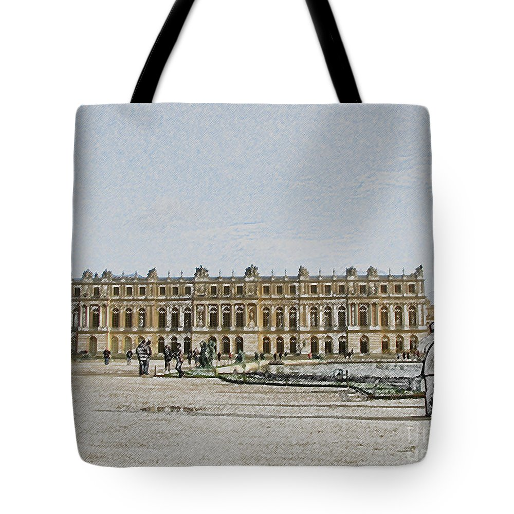 Palace Tote Bag featuring the photograph The Palace Of Versailles by Amanda Barcon