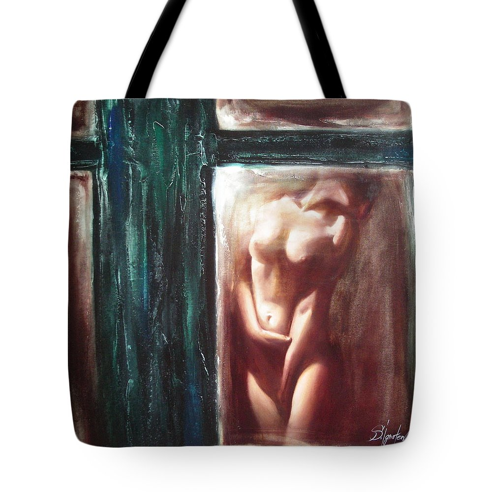 Ignatenko Tote Bag featuring the painting The Parallel World by Sergey Ignatenko