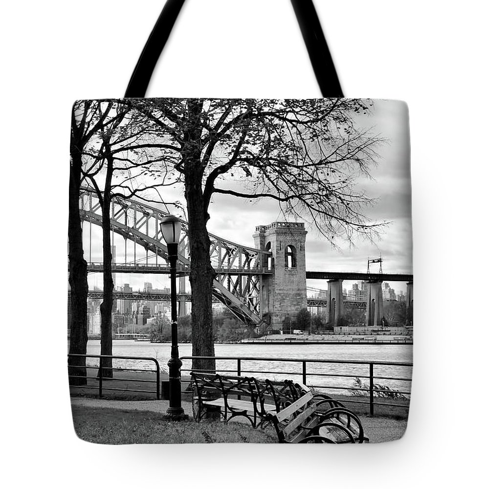 Astoria Tote Bag featuring the photograph The Park by Cate Franklyn