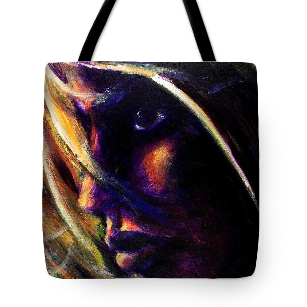 Acrylic Tote Bag featuring the painting The Past Is Gone by Jason Reinhardt