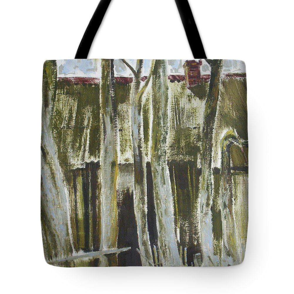 Oil Tote Bag featuring the painting The Past Space by Sergey Ignatenko