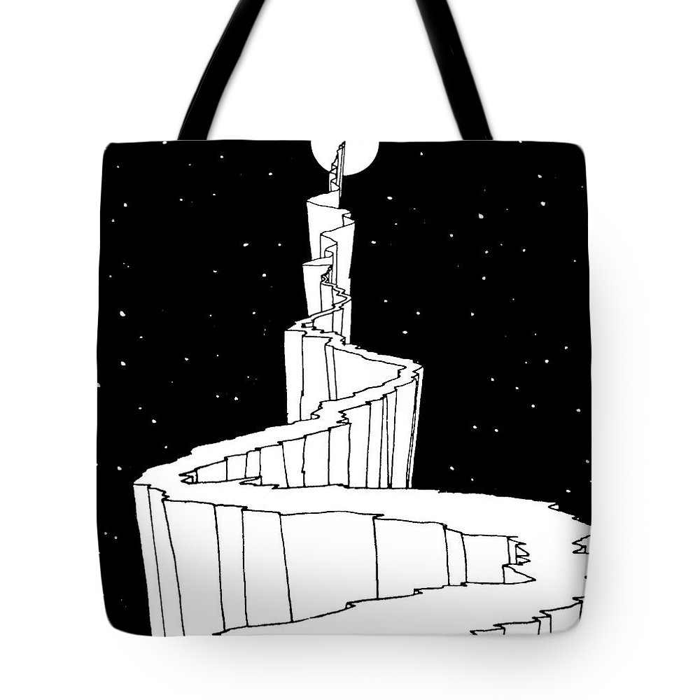 Reach For The Sky Drawings Tote Bags