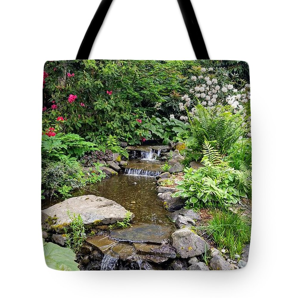 Botanical Floral Nature Tote Bag featuring the photograph The peaceful place 3 by Valerie Josi