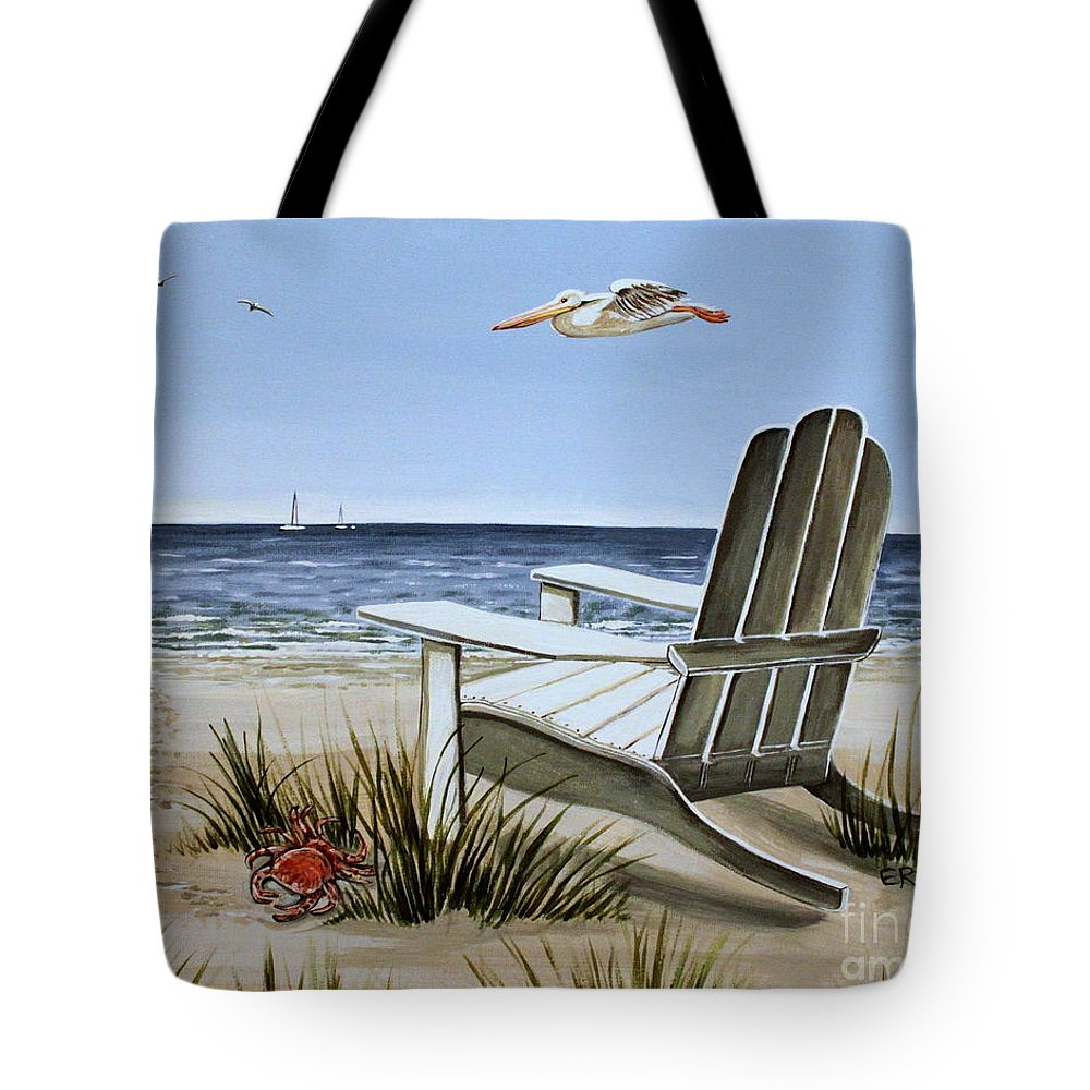 Landscape Tote Bag featuring the painting The Pelican by Elizabeth Robinette Tyndall