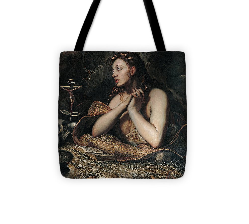 Tintoretto Tote Bag featuring the painting The Penitent Magdalene by Domenico Robusti Tintoretto
