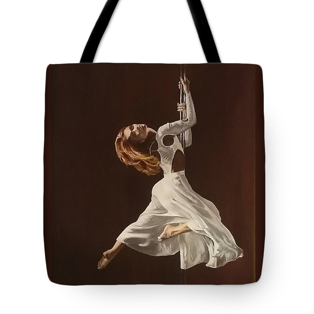 Painting Tote Bag featuring the painting The Performance by Sheryl Gallant