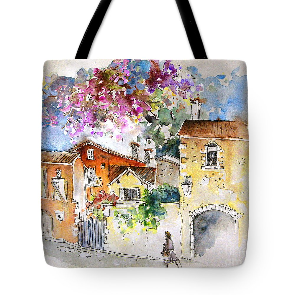 France Paintings Tote Bag featuring the painting The Perigord In France by Miki De Goodaboom