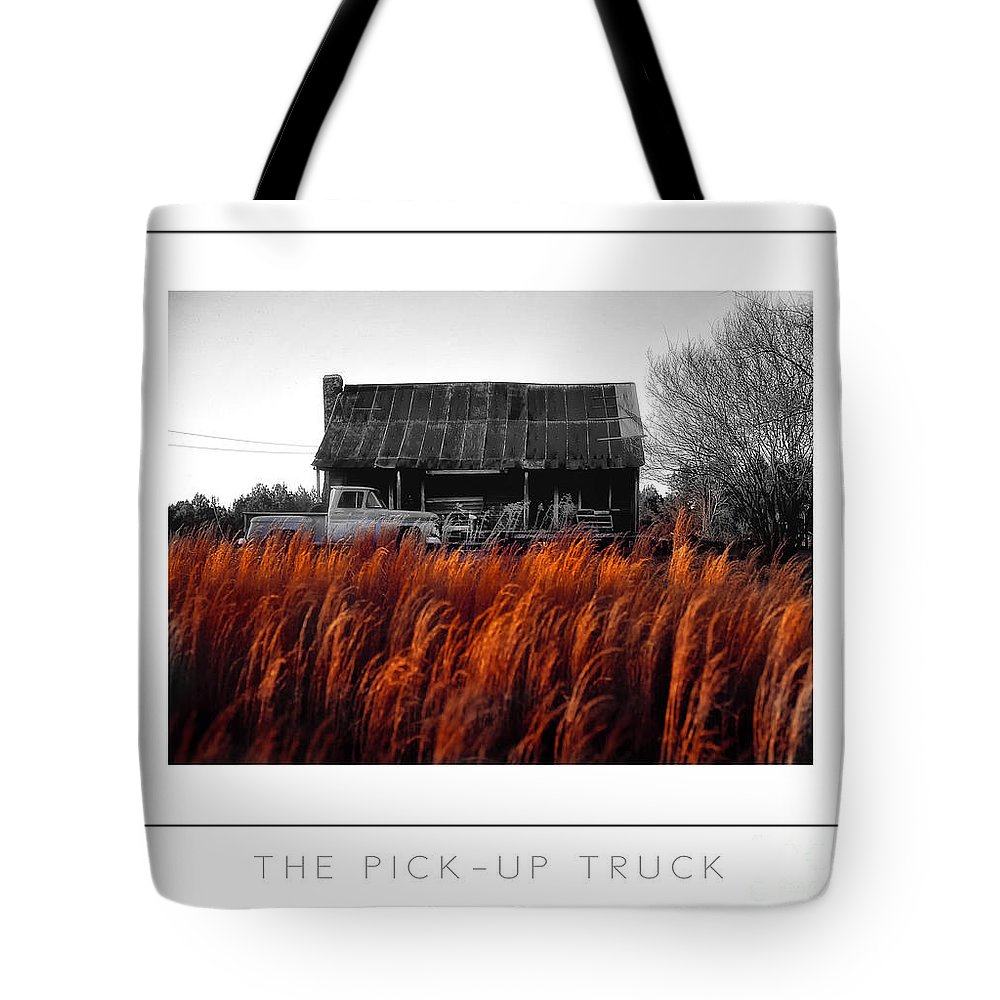Turck Tote Bag featuring the photograph The Pick-up Truck Poster by Mike Nellums