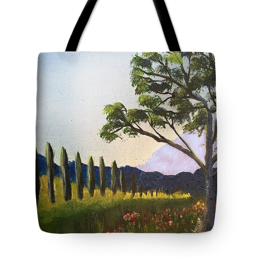 Tree Tote Bag featuring the painting The Picnic Spot by Maura Satchell