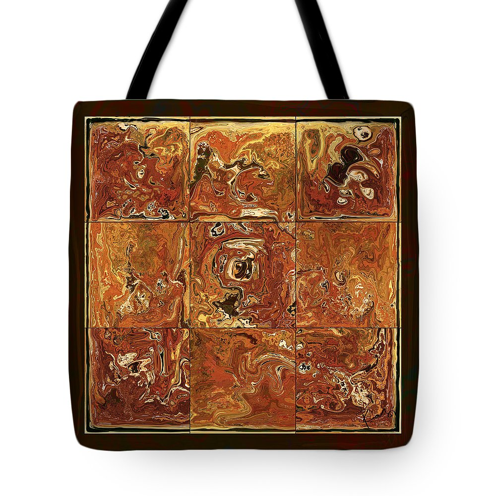 Abstract Tote Bag featuring the digital art The Pieces by Rabi Khan