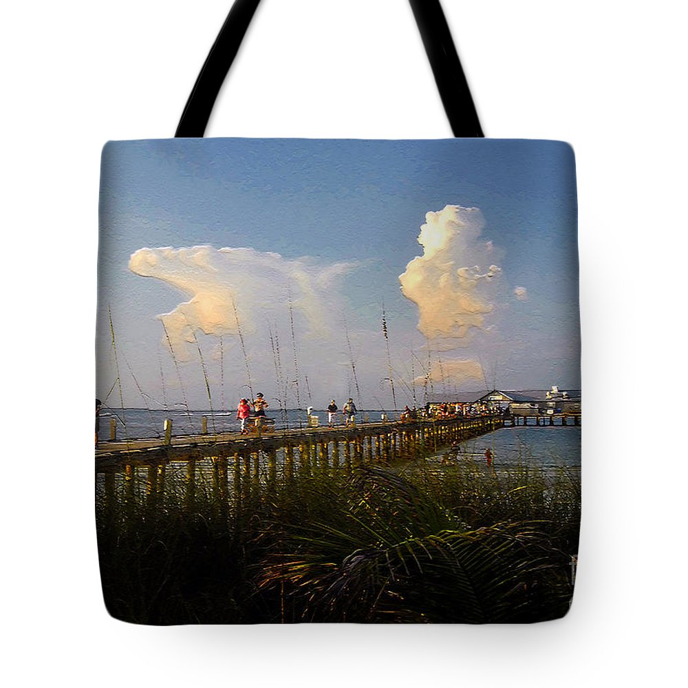 Pier Tote Bag featuring the photograph The Pier On Anna Maria Island by David Lee Thompson