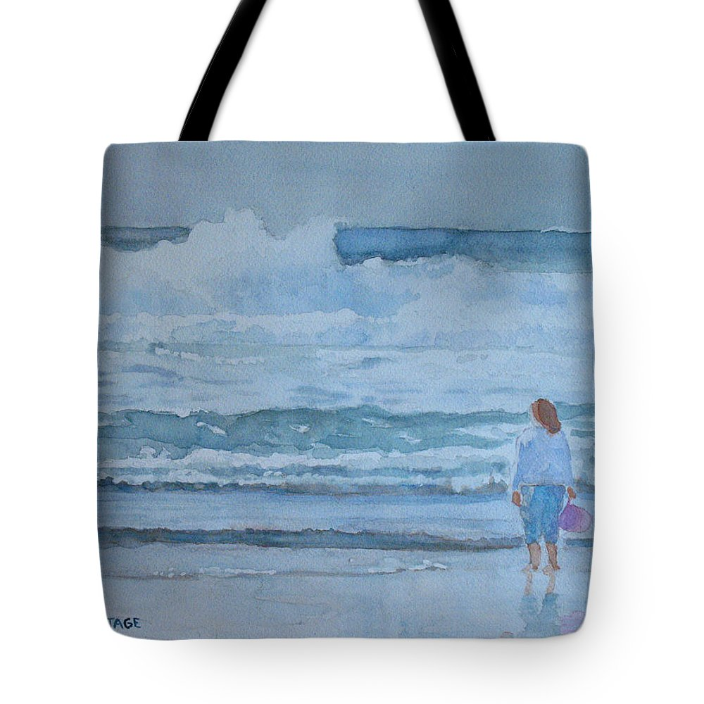 Bucket Tote Bag featuring the painting The Pink Bucket by Jenny Armitage