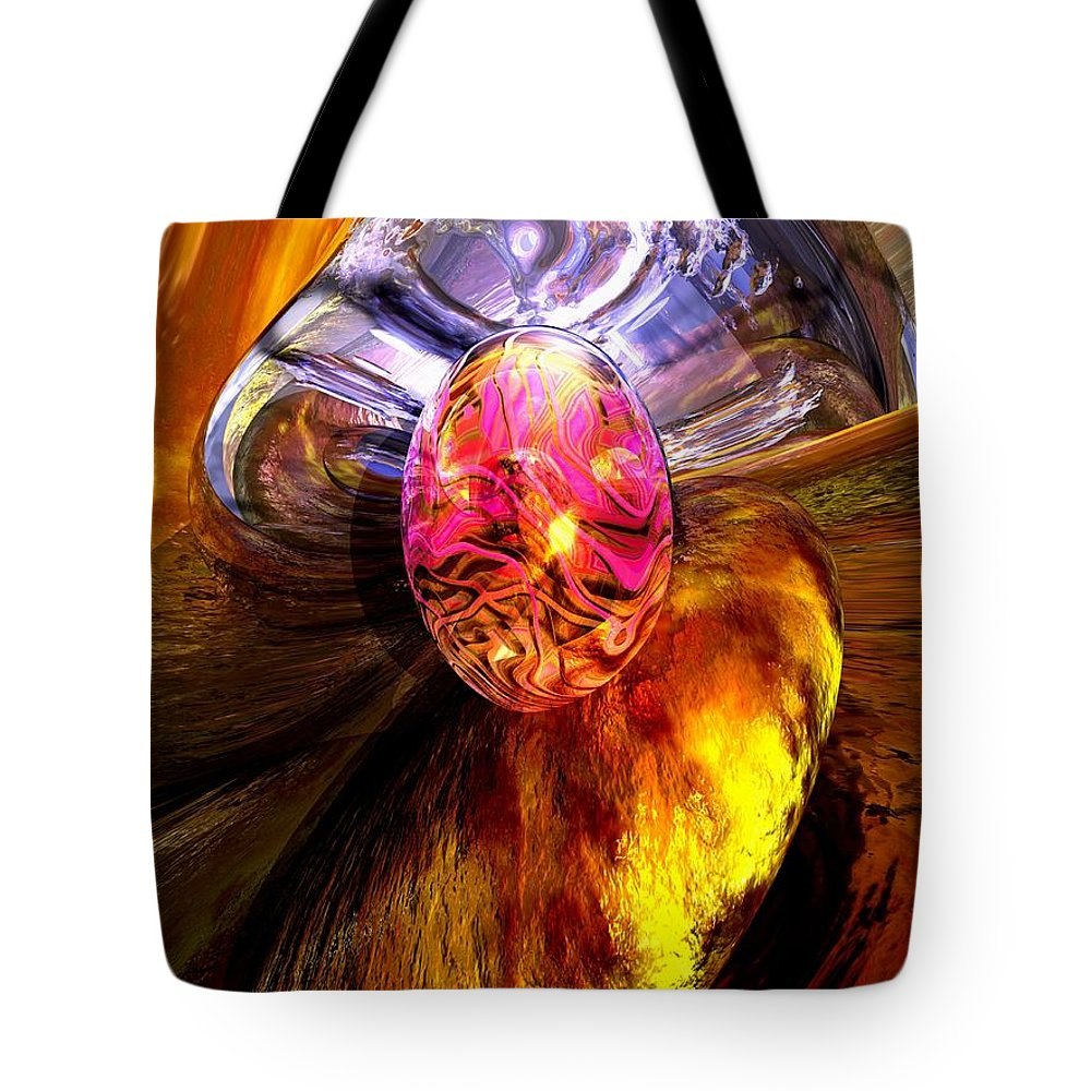 3d Tote Bag featuring the digital art The Pleasure Palace by Alexander Butler