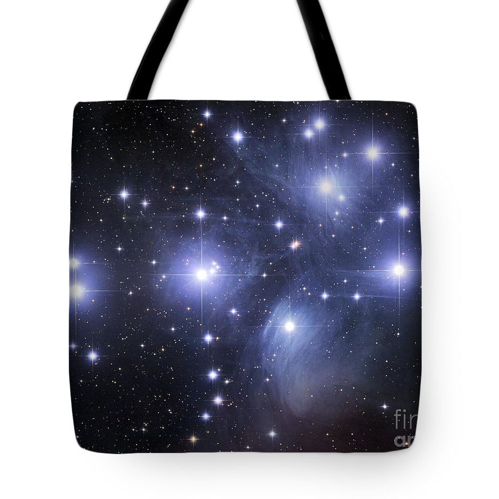 Astronomy Tote Bag featuring the photograph The Pleiades by Robert Gendler