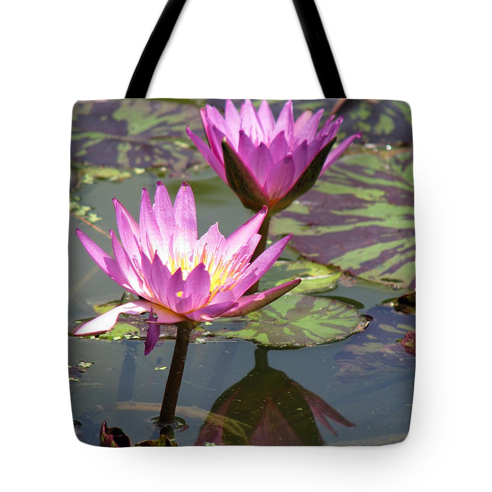 Lillypad Tote Bag featuring the photograph The Pond by Amanda Barcon