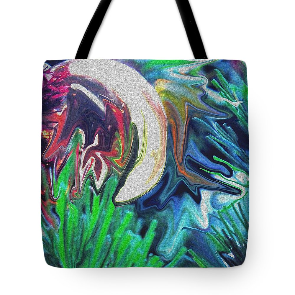 Abstract Tote Bag featuring the digital art The Pond by Ian MacDonald