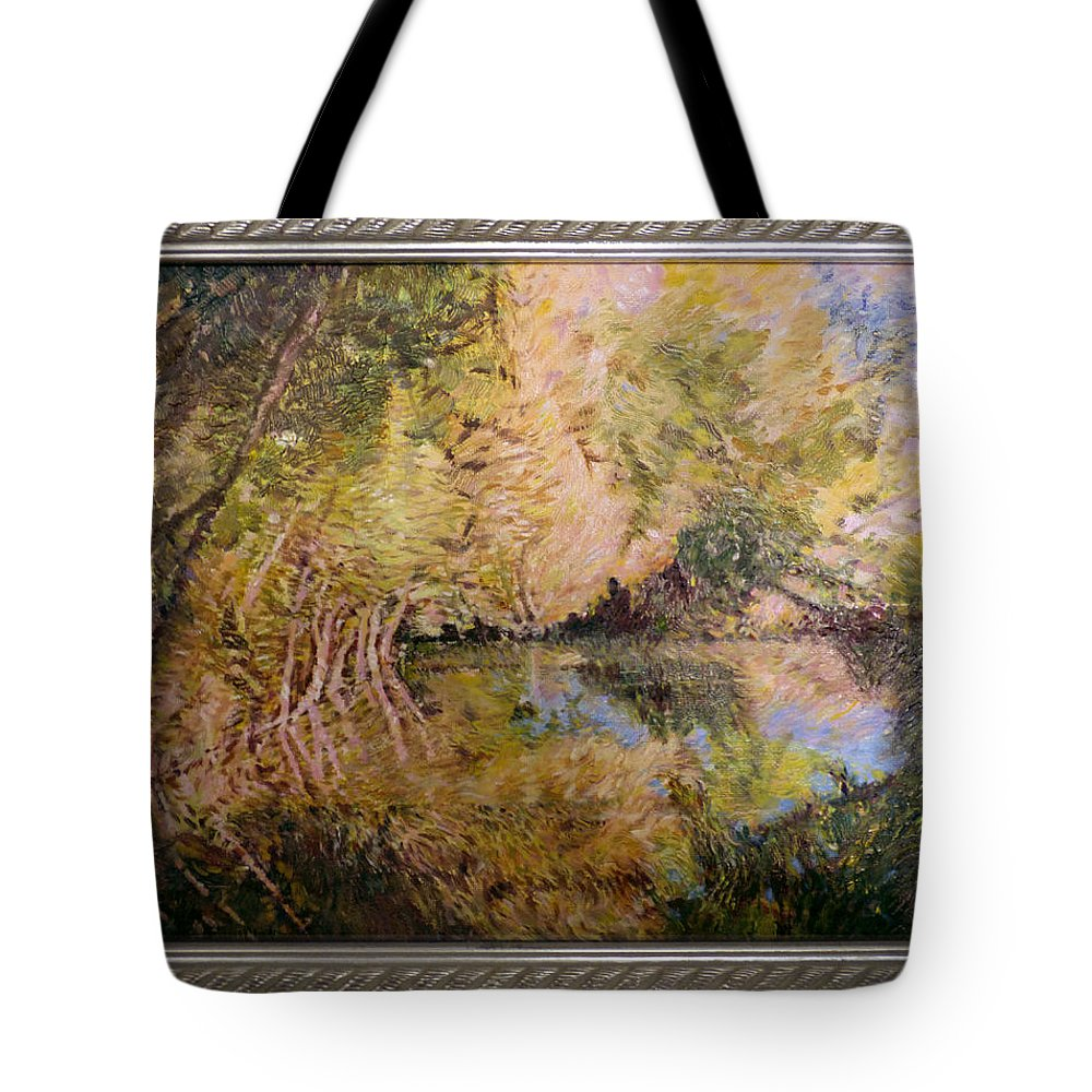 Pond Tote Bag featuring the painting The Pond by Natalya Shvetsky