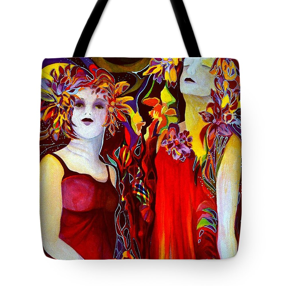 Fairies Tote Bag featuring the painting The Prayer by Carolyn LeGrand