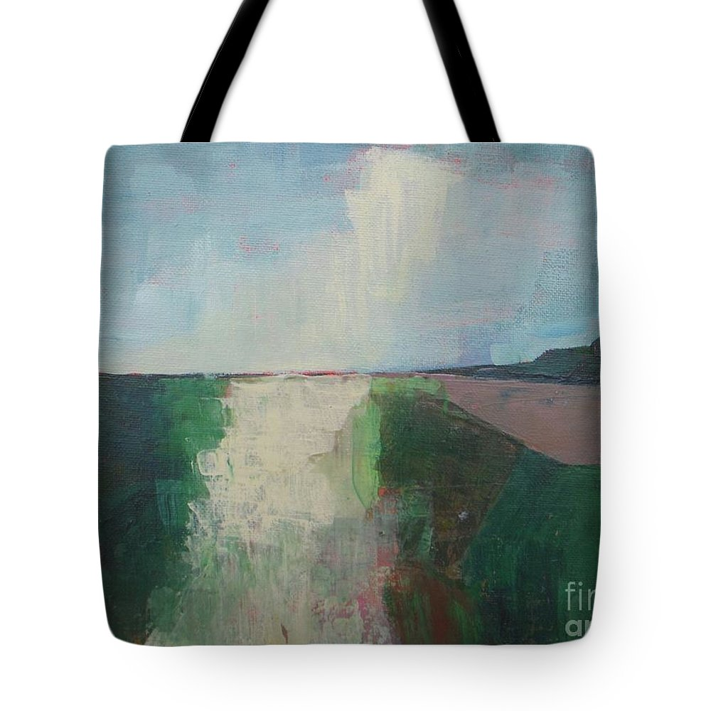 Abstract Tote Bag featuring the painting The Present Day by Vesna Antic