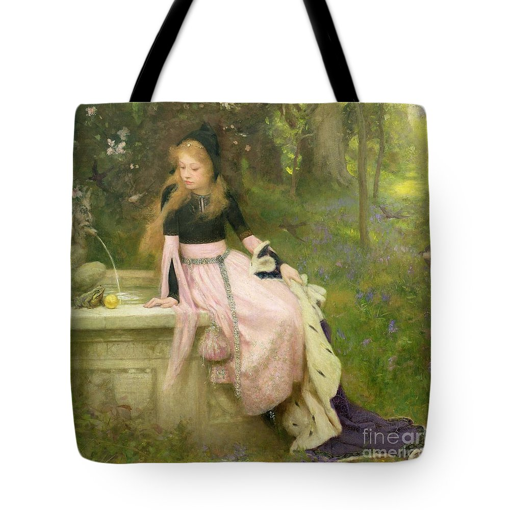 The Tote Bag featuring the painting The Princess And The Frog by William Robert Symonds