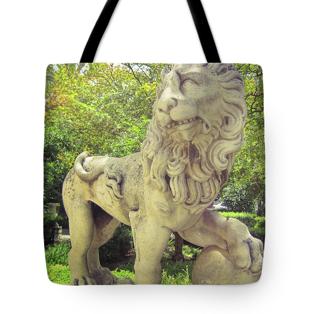 Lion Tote Bag featuring the photograph The Proud Lion by JAMART Photography