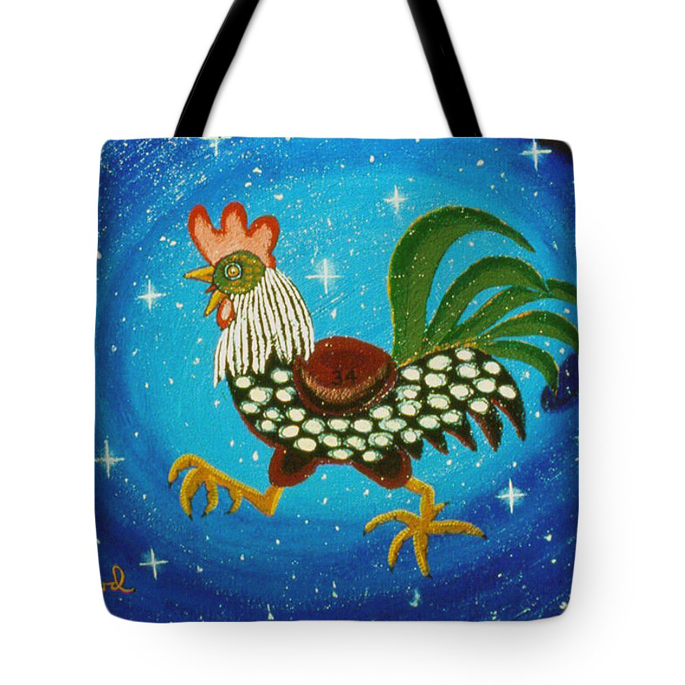 Hand Of God Tote Bag featuring the painting The Pursuit by Robert Pratt