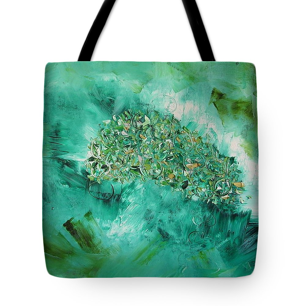 Question Tote Bag featuring the painting The Question by Dawn Hough Sebaugh