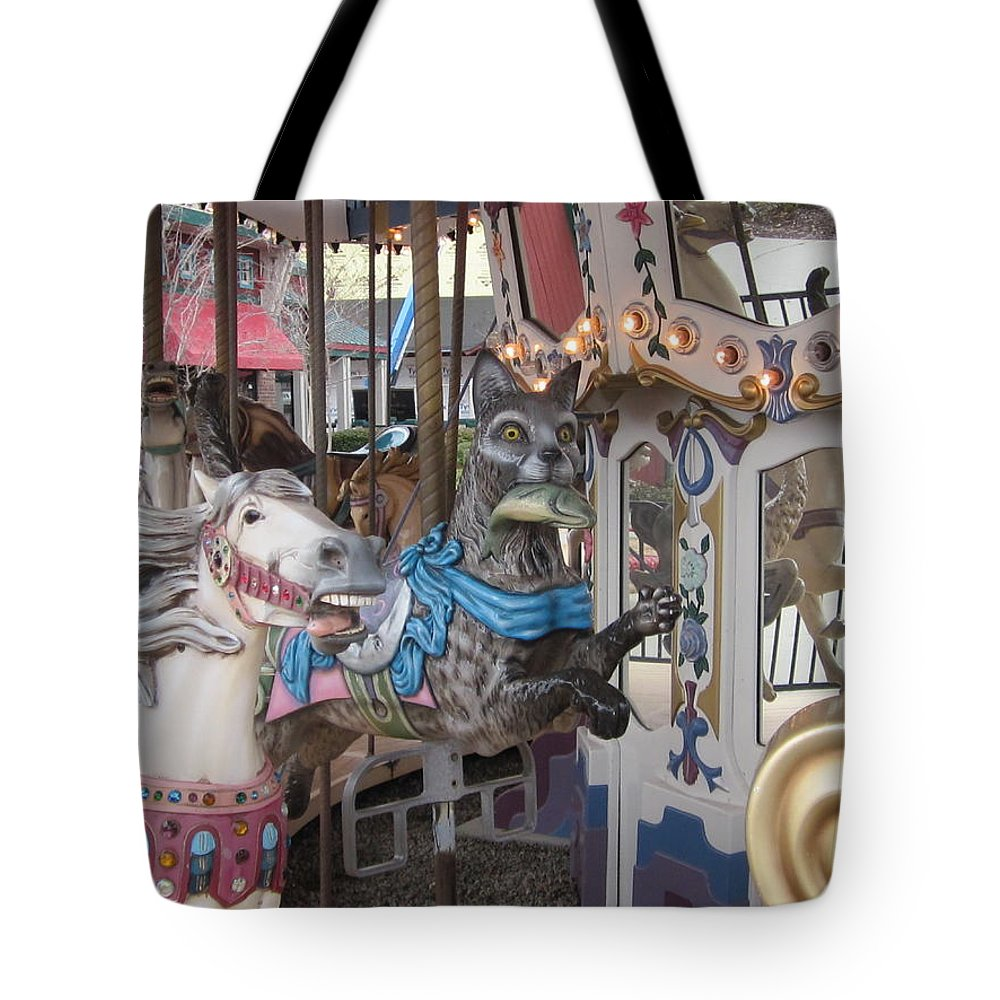 Carousel Tote Bag featuring the photograph The Race Is On by David Sutter
