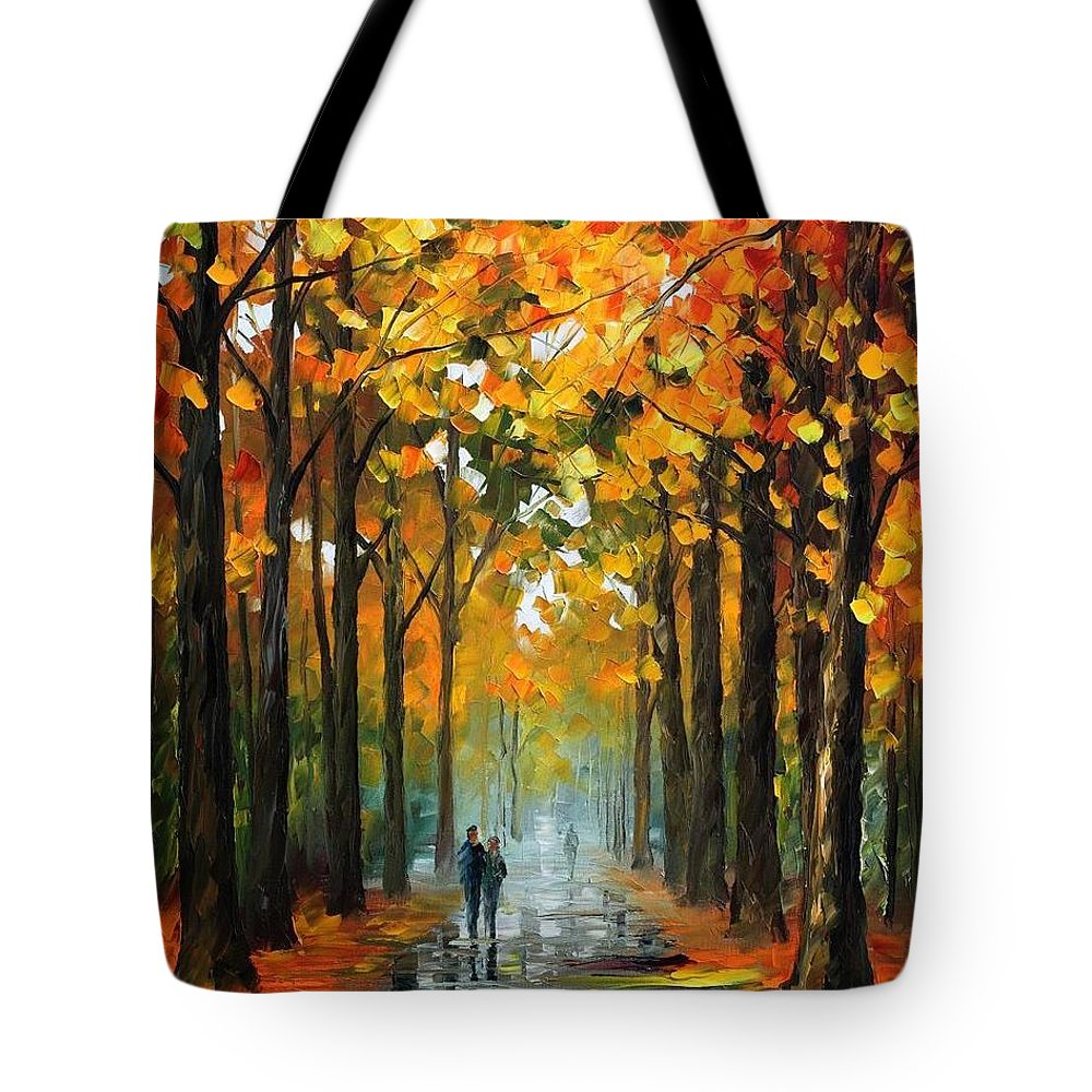 Afremov Tote Bag featuring the painting The Rain Is Gone by Leonid Afremov