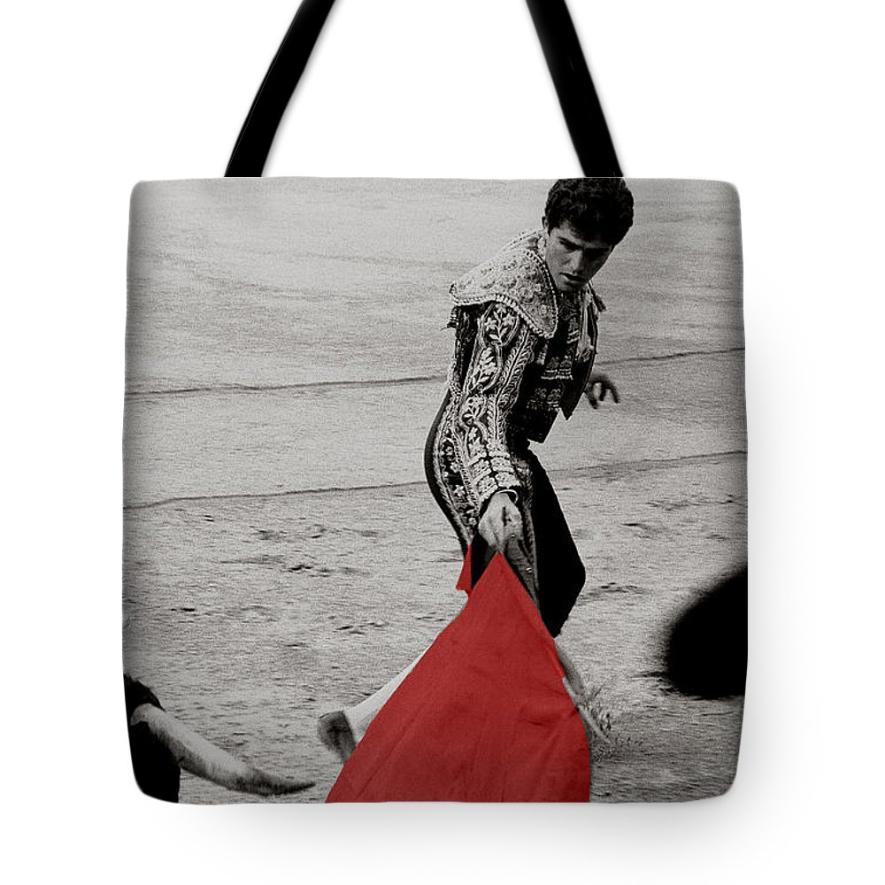Cape Tote Bag featuring the photograph The Red Cape by Michael Mogensen