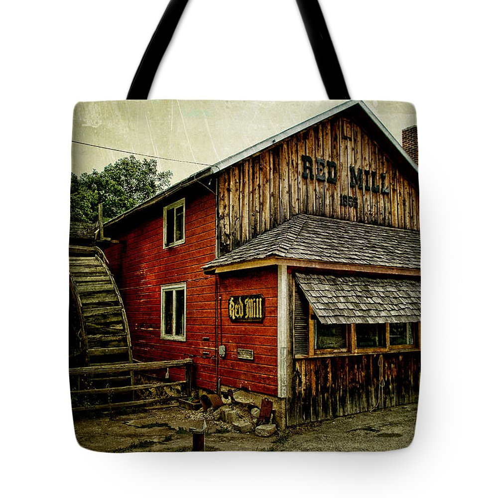 Red Mill Tote Bag featuring the photograph The Red Mill by Joel Witmeyer