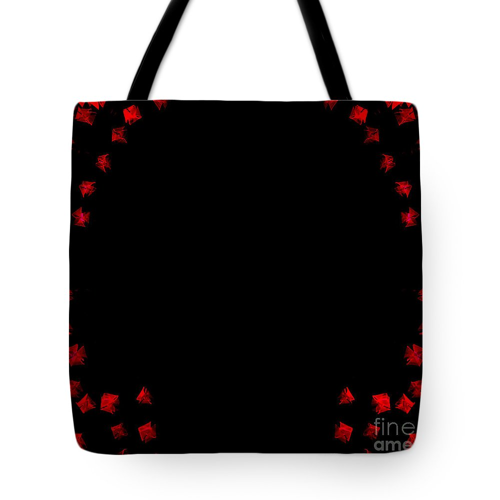 Red Tote Bag featuring the mixed media The Red Ones by NAJE Foto - Nelly Rodriguez