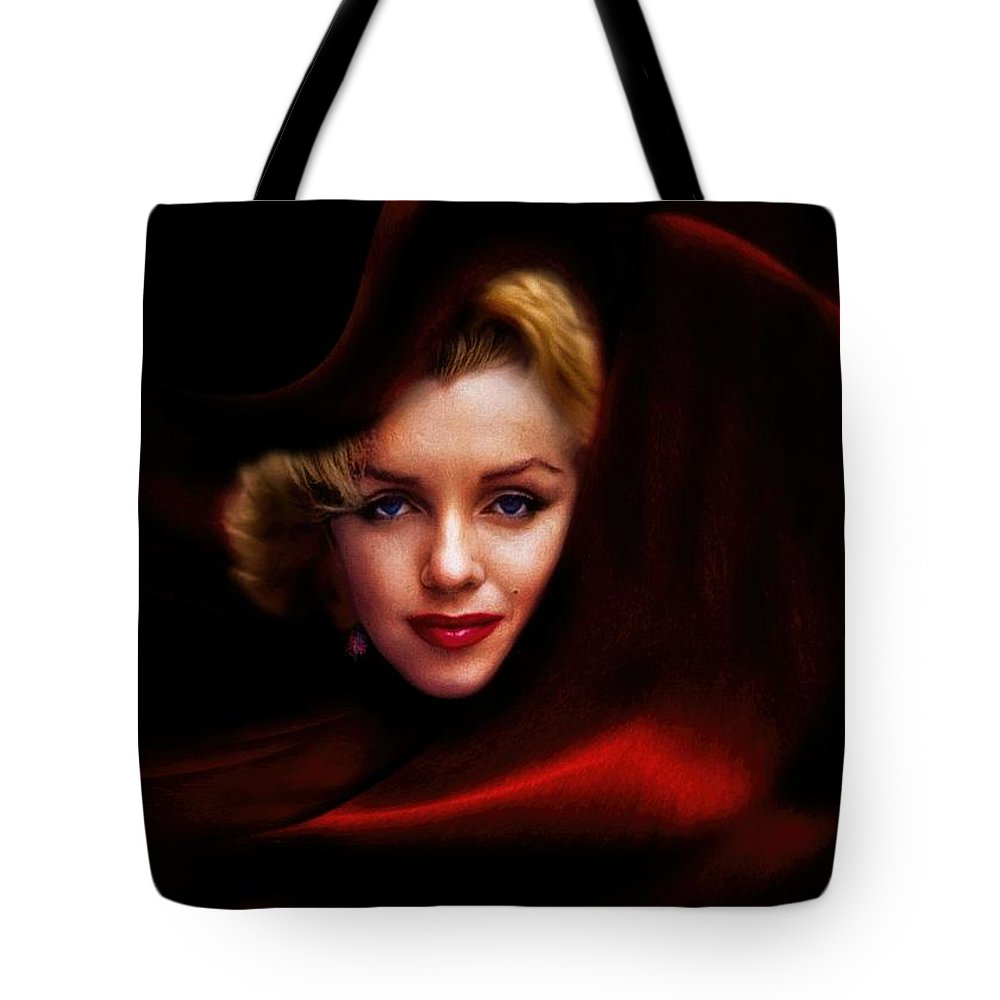 The Red Queen Tote Bag featuring the photograph The Red Queen by Daniel Arrhakis