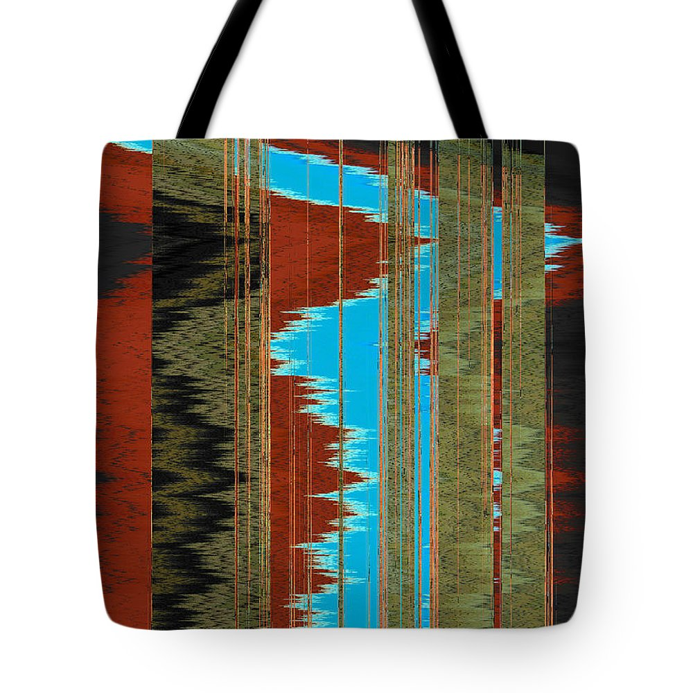 Abstract Tote Bag featuring the digital art The Red Road by Lenore Senior