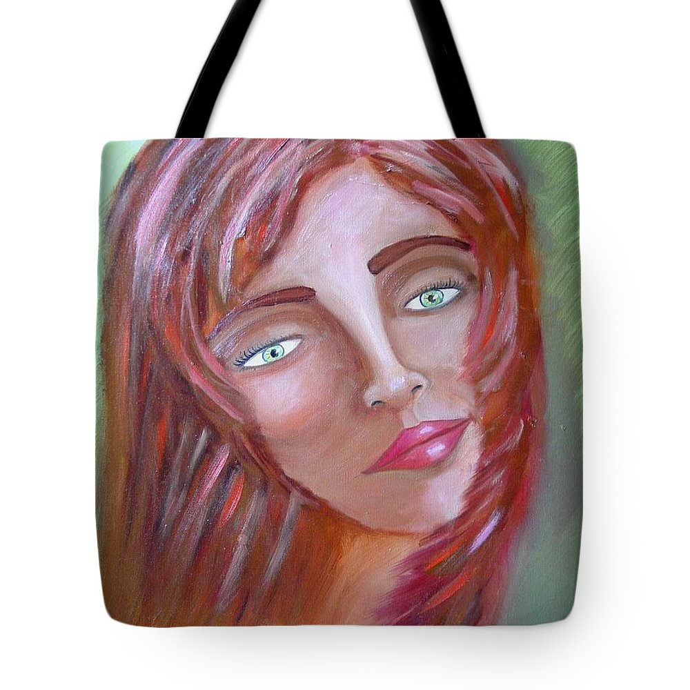 Redheads Tote Bag featuring the painting The Redhead by Laurie Morgan