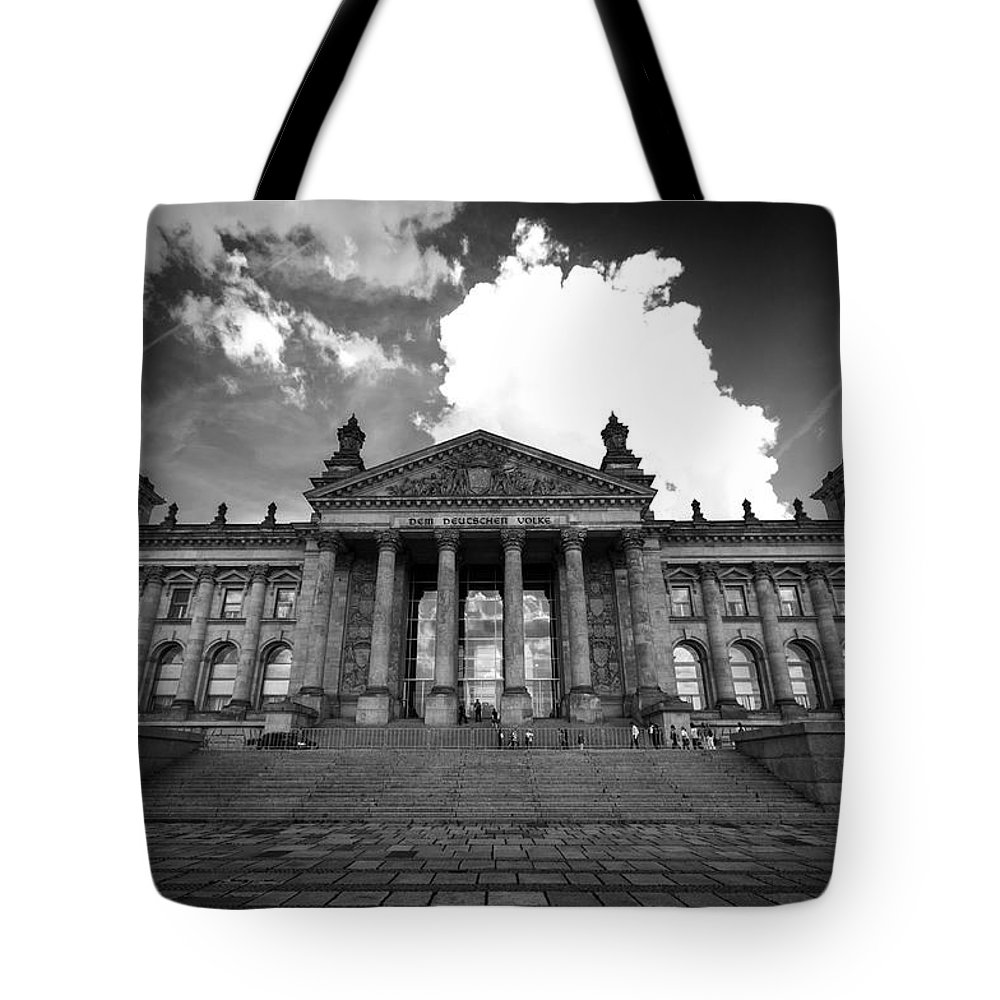 Berlin Tote Bag featuring the digital art The Reichstag  by Nathan Wright
