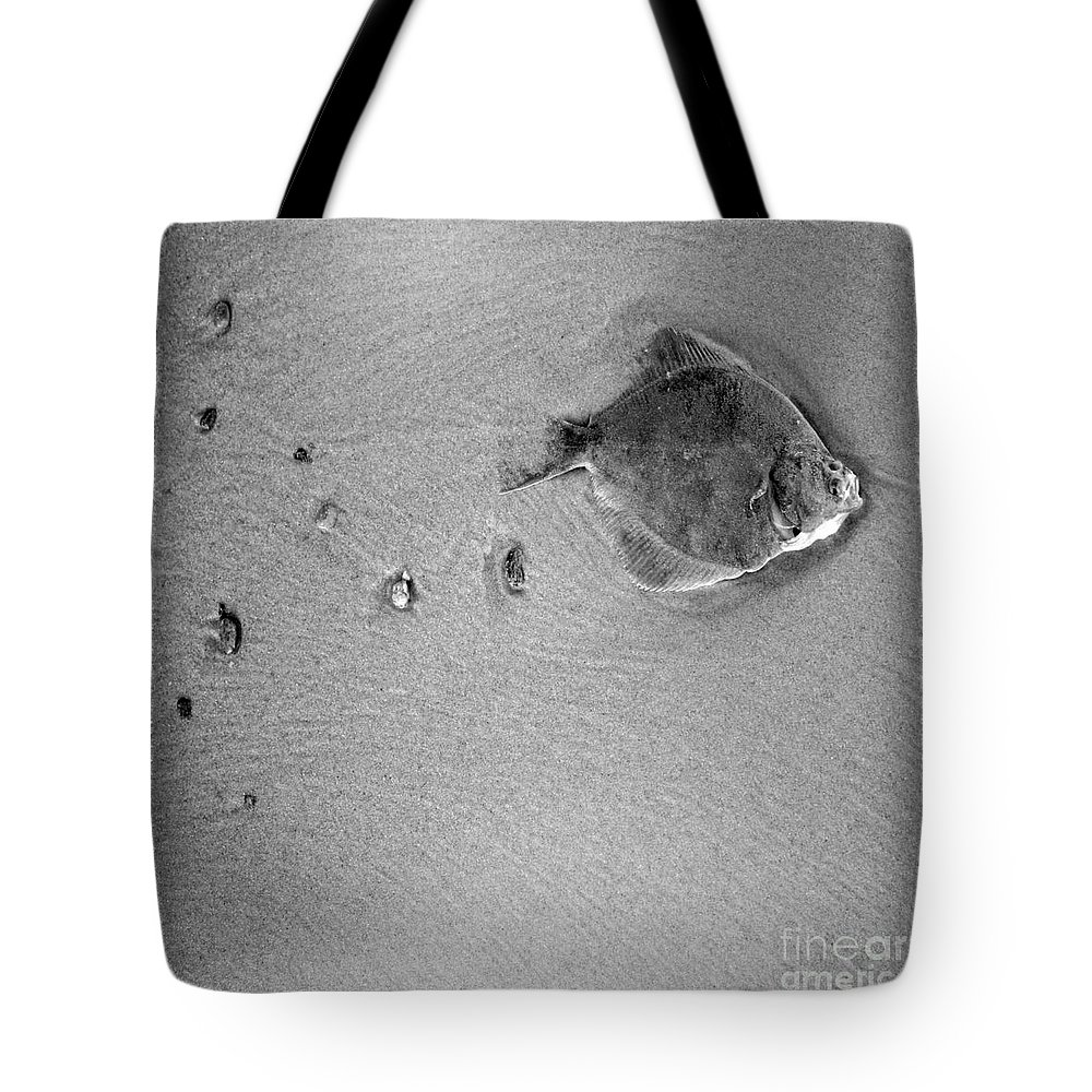 Fish Tote Bag featuring the photograph The Relief by Angel Ciesniarska